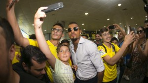 PHOTOS: Las Palmas fans mob new signing Kevin Boateng following his arrival in Spain