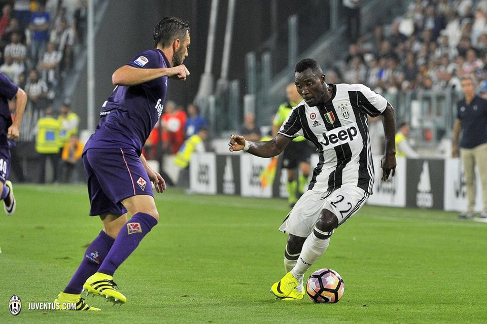 Kwadwo Asamoah in action for Juventus