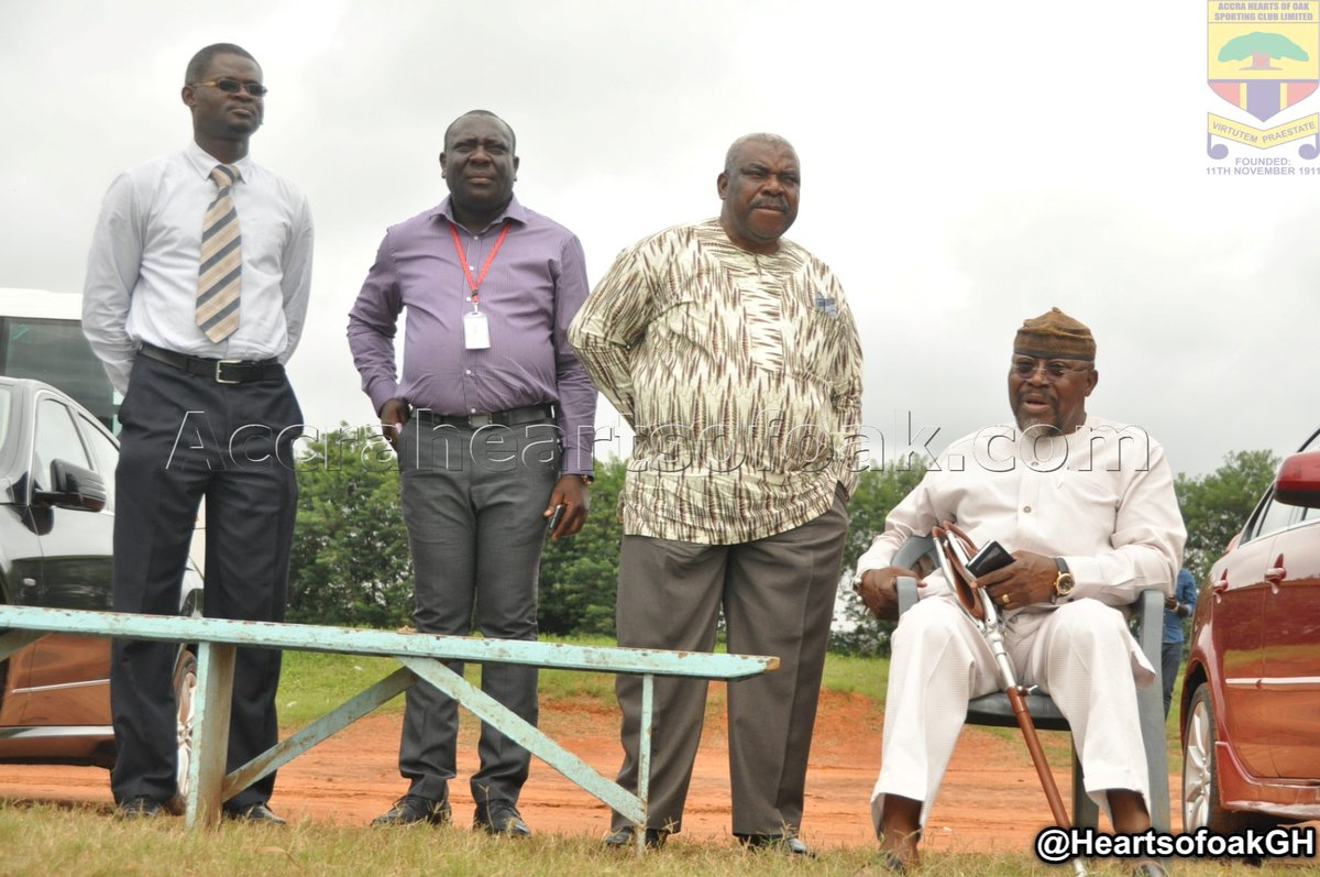 Hearts of Oak board members visit training ground