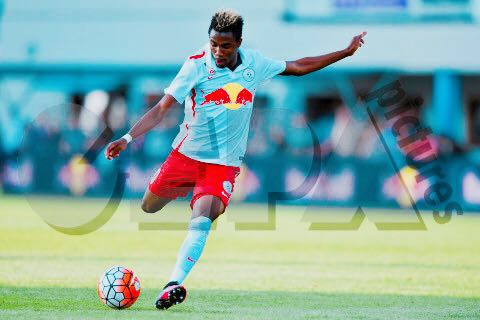 Samuel Tetteh in action for FC Liefering