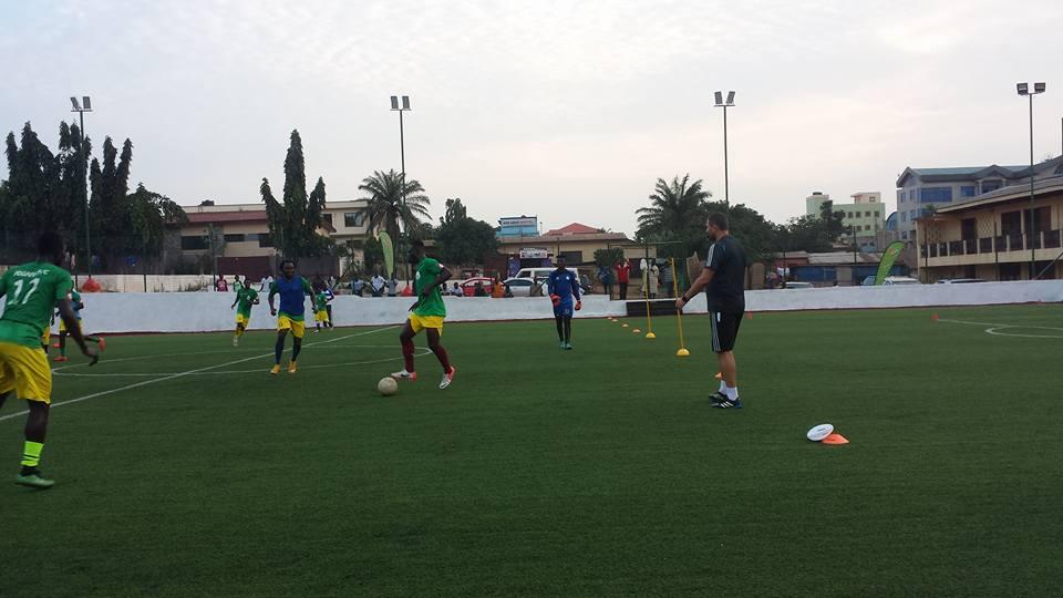 PHOTOS: Aduana Stars train on Kotobabi Wembley AstroTurf pitch ahead of WAFA clash