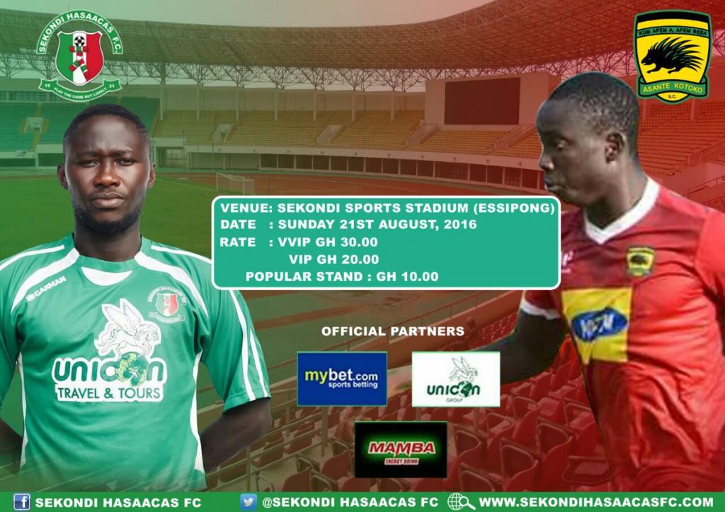 Ghana Premier League LIVE play-by-play: Sekondi Hasaacas - Asante Kotoko