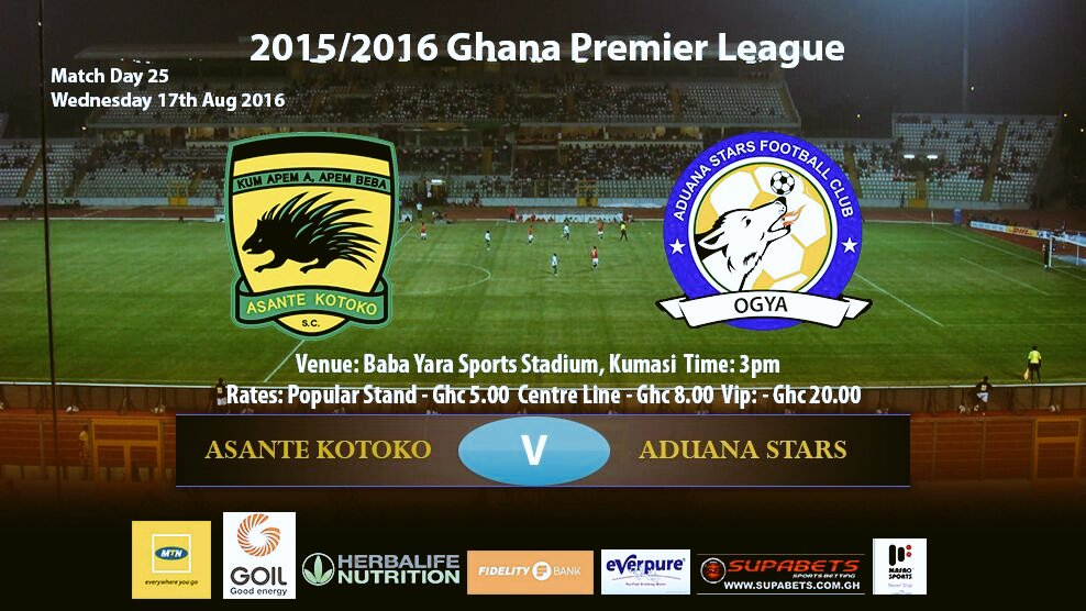 Ghana Premier League LIVE play-by-play: Asante Kotoko - Aduana Stars