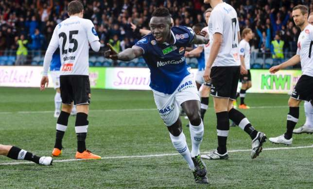 Former Man City starlet Nana Boateng on target for Stromsgodset in Norway