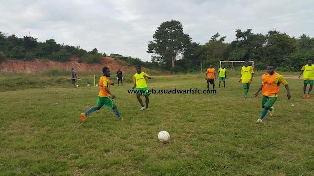 Ebusua Dwarfs training ahead of Hearts of Oak clash.