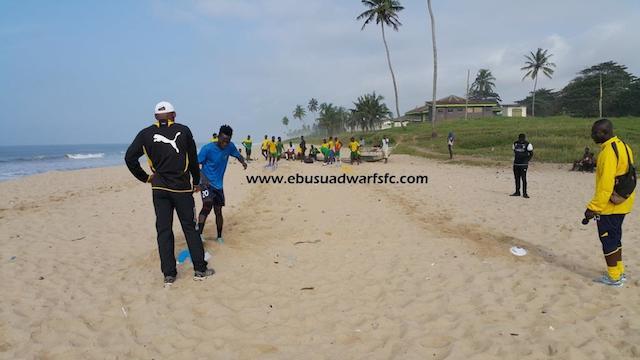 Ebusua Dwarfs training