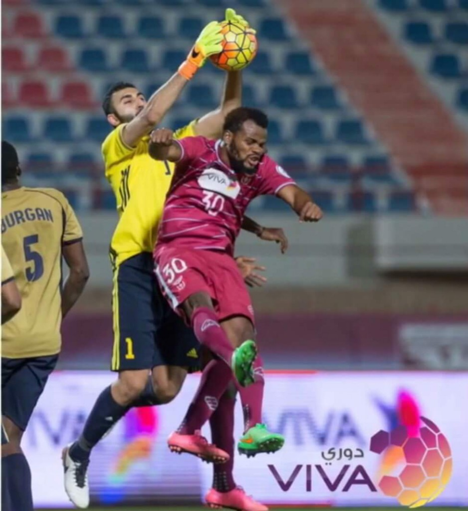 Ghanaian defender Emmanuel Ofori scores in Al Nasar 2-0 win over Burgan in Kuwait Viva League
