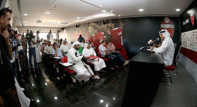 Asamoah Gyan unveiled by Al Ahli.