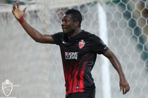 Asamoah Gyan fires Uganda  warning after netting brace for Al Ahli in 3-2 win over Al Shabab in UAE League Cup