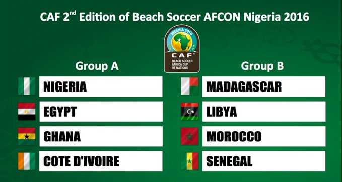 2016 Beach Soccer Afcon: Black Sharks drawn in group of death