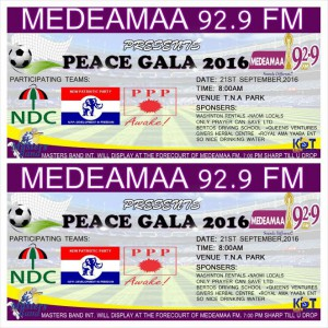 Medeamaa FM organises Peace football gala in Tarkwa ahead of December's Presidential elections