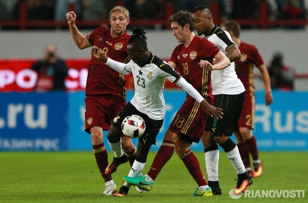 Russia in action against Ghana