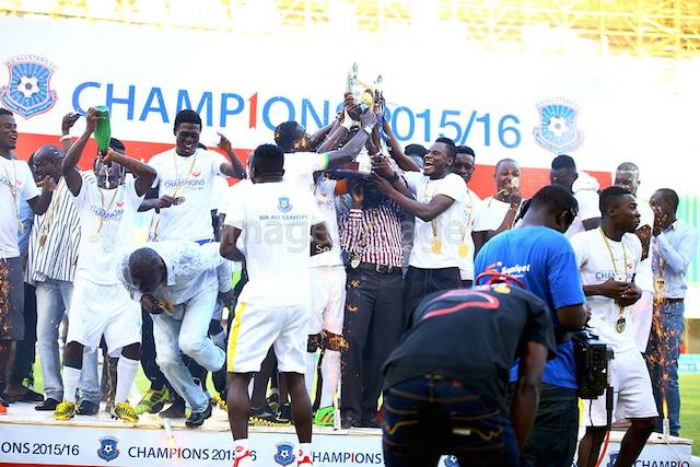 Wa All Stars were crowned Ghana Premier League champions on Sunday in Sekondi.