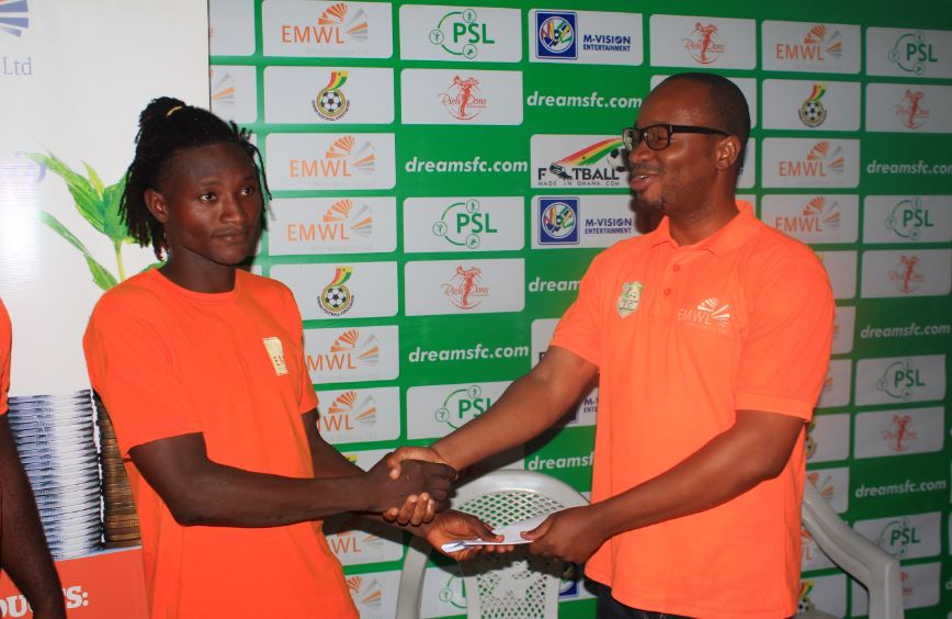 Captain Abdul Bashiru voted Dreams FC Players' Player of the Season