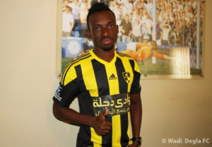 Ghanaian striker Samuel Afum scores for Wadi Degla in 1-1 stalemate with El Geish