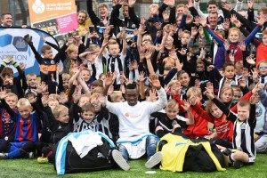 VIDEO: Christian Atsu highlights World Orphan Day at Newcastle United Foundation soccer school