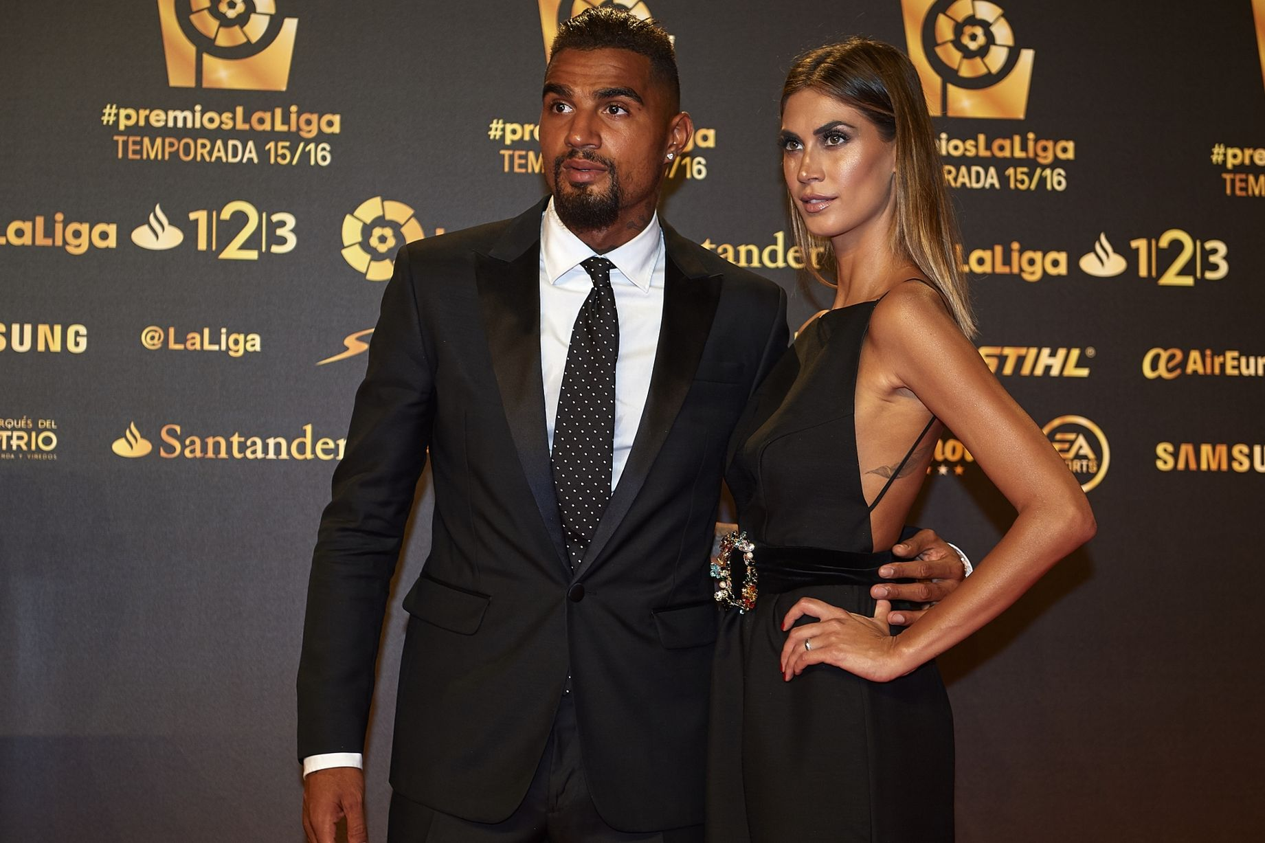 In-form Kevin Prince Boateng steals show at La Liga awards night with stunning wife Melissa Satta