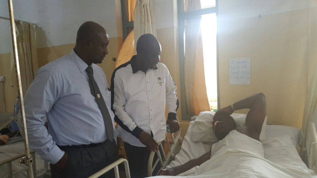 Ghana FA Vice visits Coach Afrane at Korle Bu Teaching Hospital