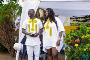 Former Ghana international Nii Odartey Lamptey with his fiancee