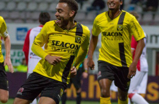 Ghanaian striker Opoku Agyemang scores for Venlo in Dutch second-tier league