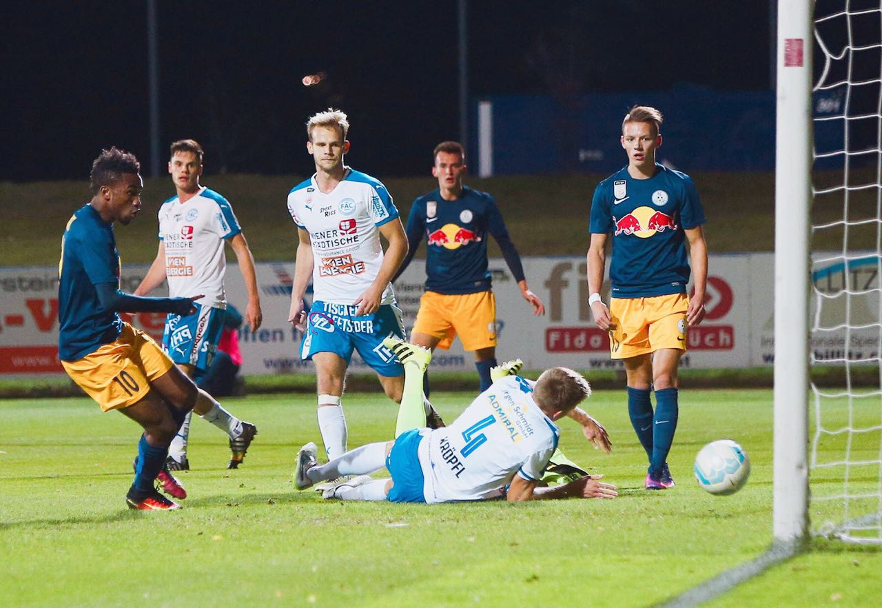 VIDEO: Watch Samuel Tetteh's two goals in FC Liefering drubbing of Floridsdorfer