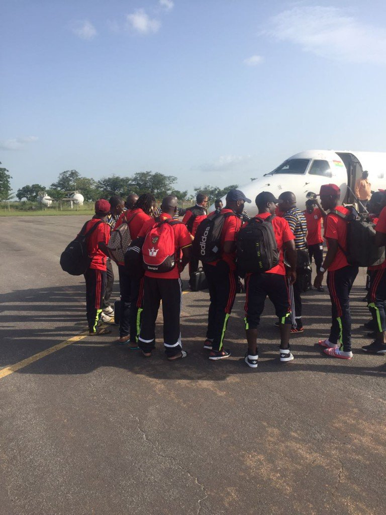 PHOTOS: Uganda touch down in Tamale for Ghana World Cup qualifier