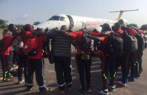 Uganda team in Tamale