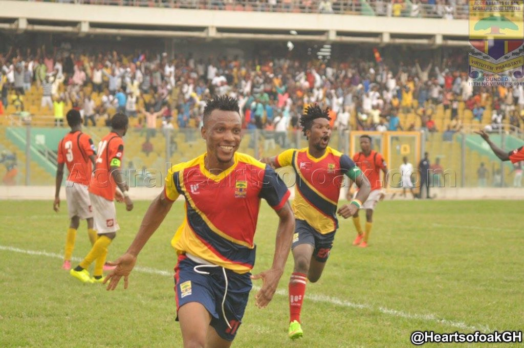 Hearts of Oak to SACK striker Sam Yeboah- reports
