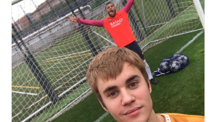 VIDEO: Justin Bieber Shows Off His Impressive Skills and Scores a Goal in Barcelona Training
