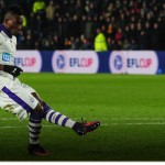 Christian Atsu scores artful penalty in shoot-outs but Newcastle United are eliminated from English League Cup