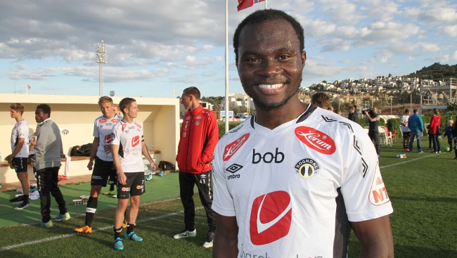 Gilbert Koomson's brace wins friendly for Sogndal against Brann in Norway