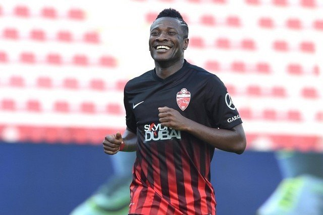 Asamoah Gyan makes return as second half sub as Al Ahli beat Sharjah