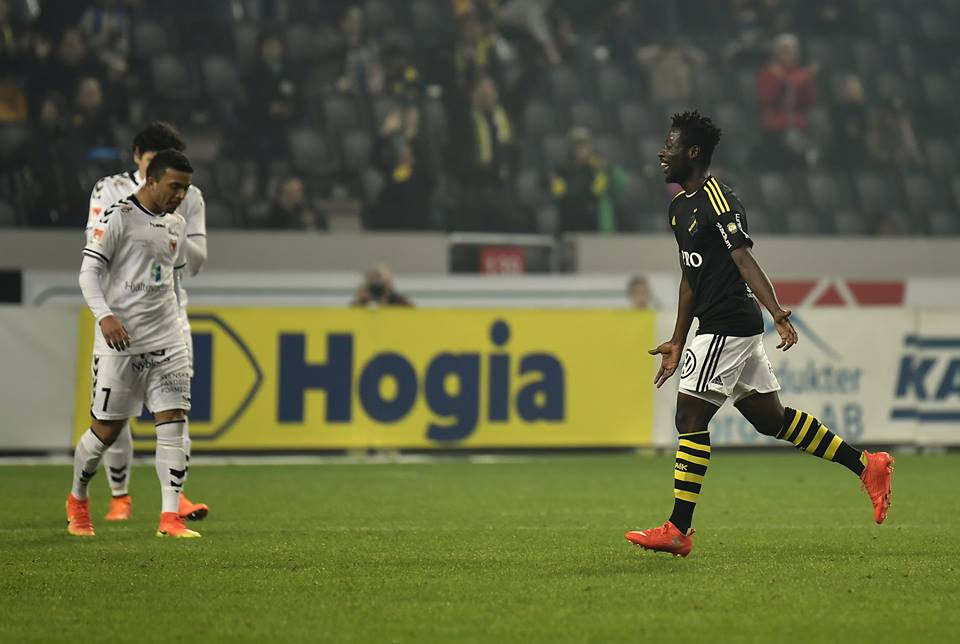VIDEO: Watch the wonderful goal scored by Ghanaian midfielder Ebenezer Ofori in Swedish top-flight