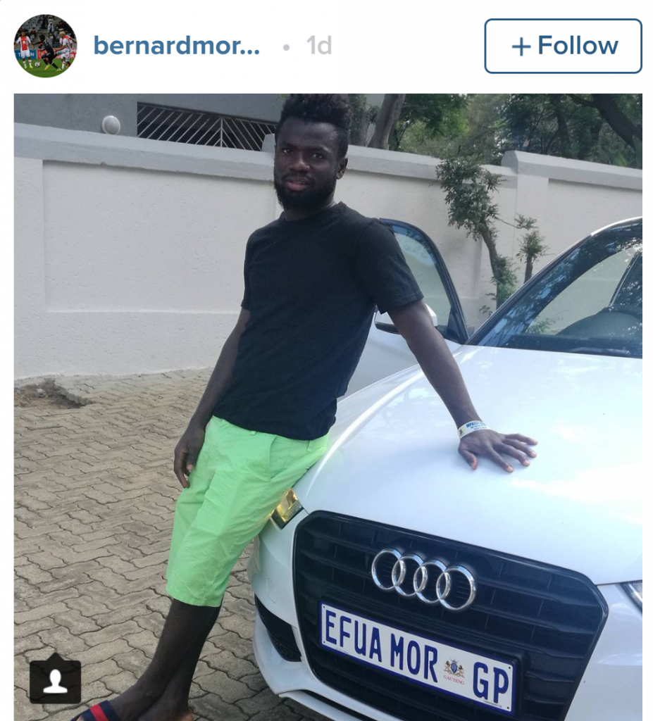 Orlando Pirates star Bernard Morrison customises car with mum's name