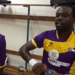 Former Medeama striker Tanko Mohammed training with Aduana Stars