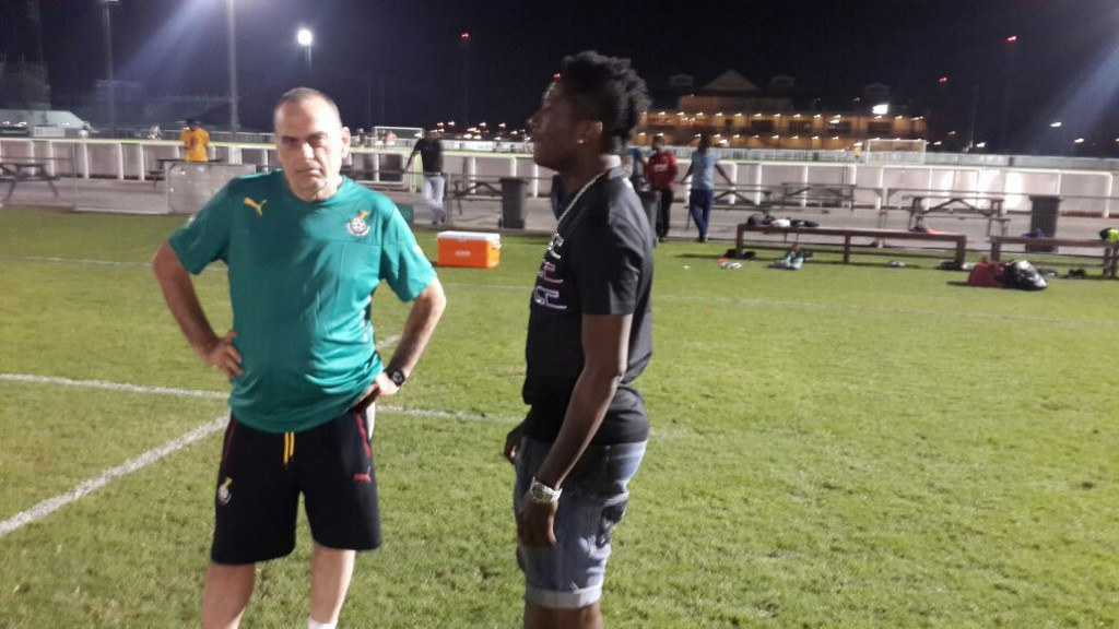 VIDEO: Injured Black Stars skipper Asamoah Gyan visits team in Dubai