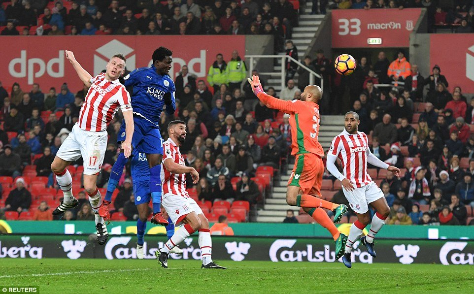 VIDEO: Watch Daniel Amartey's point-earning header for Leicester at Stoke City