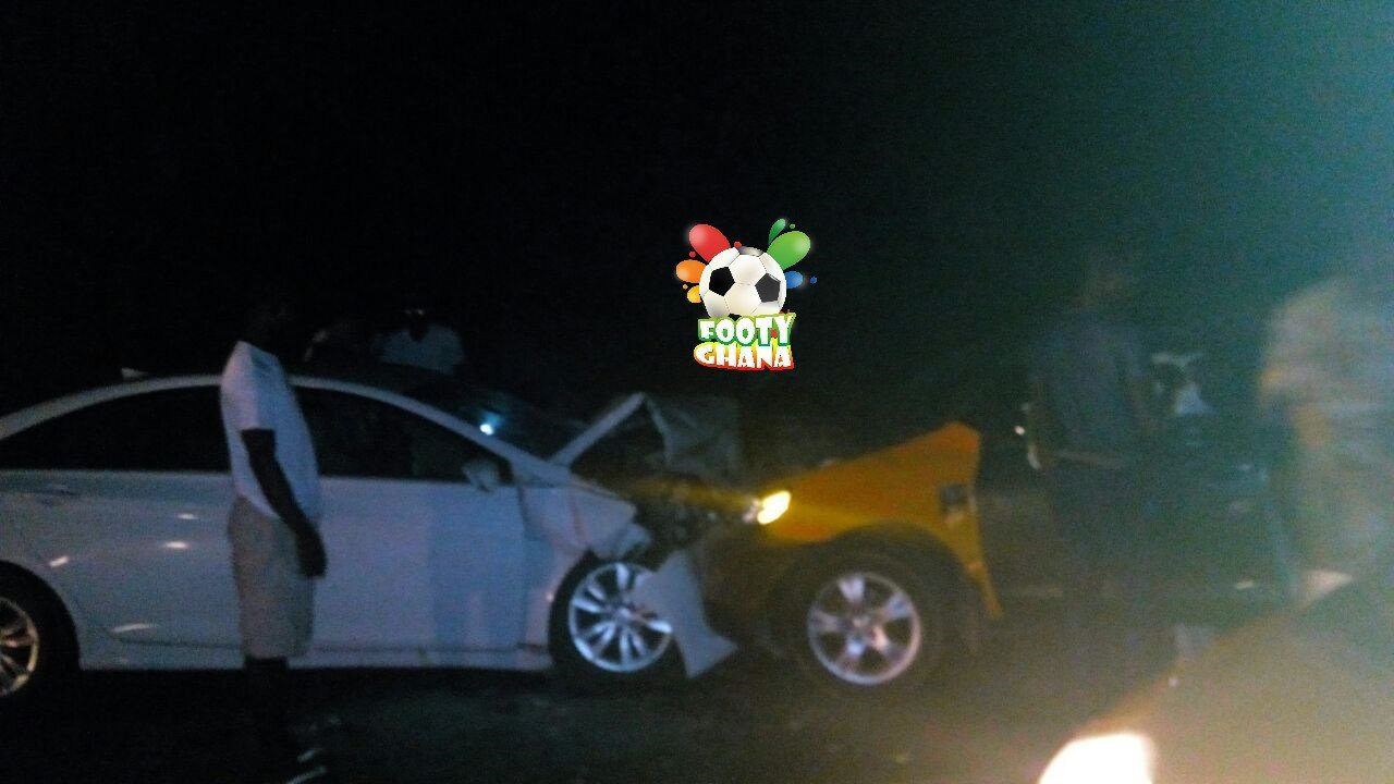 VIDEO: Edwin Gyimah involved in serious car accident in Obuasi; suffers cuts