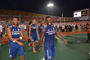 Ex-Chelsea stars Joe and Ashley Cole join Michael Essien at club's training