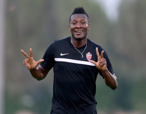 Asamoah Gyan returns to training for Al Ahli.