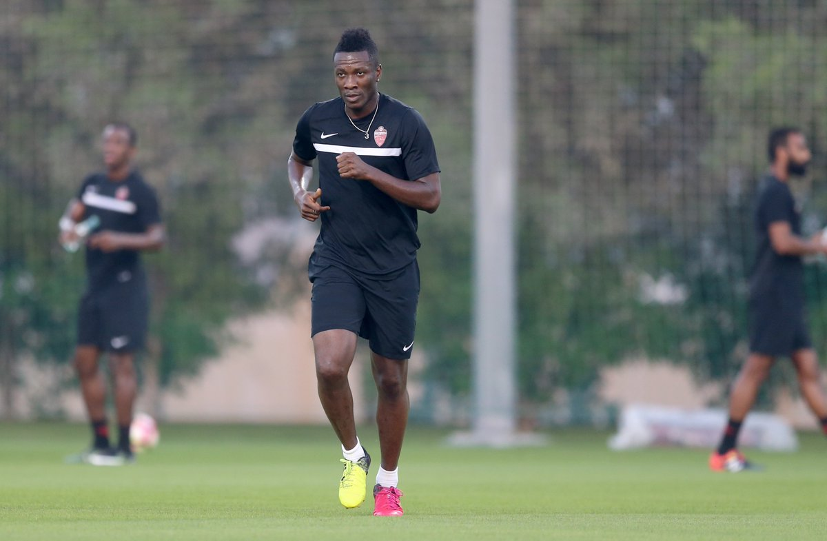 PHOTOS: Boost for Ghana's 2017 AFCON campaign as captain Asamoah Gyan returns to training