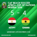 2016 Beach Soccer Afcon: Ghana lose 4-5 to Egypt to end Bahamas World Cup dream