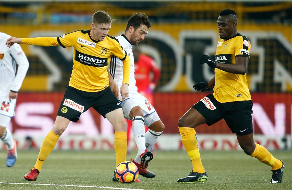 Ghanaian defender Kasim Nuhu sent off in Young Boys famous win over FC Basel
