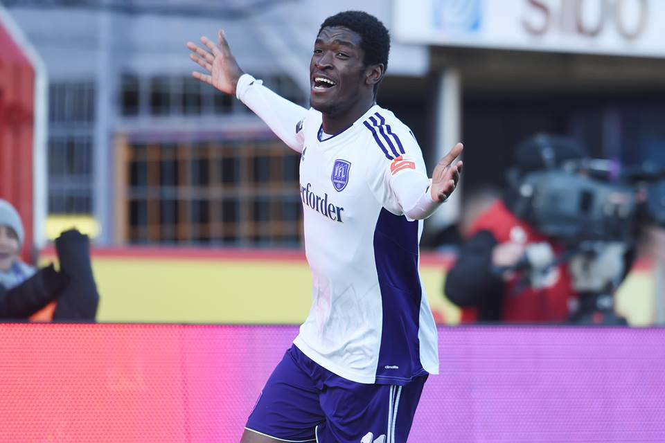 Ghanaian forward Okyere Wriedt on target for Osnabruck in German lower-tier