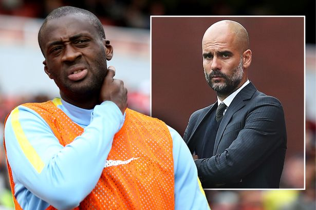 Man City boss Pep Guardiola embarrasses Yaya Toure on the touchline during defeat to Chelsea