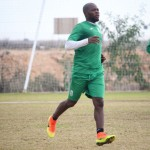 Former Ghana youth midfielder Paul Quaye training with FC Cartagena