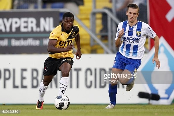 Manchester City loan star Thomas Agyepong on target for NAC Breda in Dutch second-tier