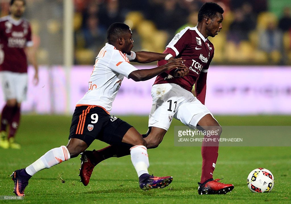 VIDEO: Watch the fabulous header scored by Ghana's Majeed Waris for Lorient in France on Saturday
