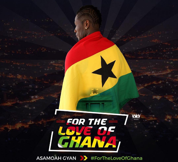 Ghana captain Asamoah Gyan prays for peace in today's general elections
