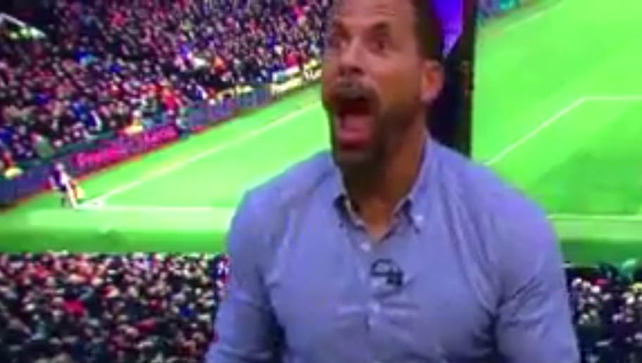 VIDEO: Rio Ferdinand Goes Ballistic as Zlatan Ibrahimovic Equalises Against Liverpool